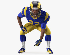 American Football Player LA Rams Rigged 3D model