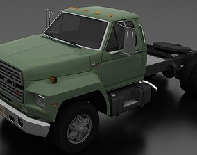 F-800 Semi Truck Day Cab 1980 3D asset