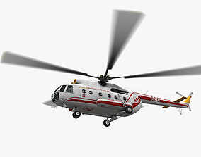 Mi-8T Poland Air Force Animated 3D asset