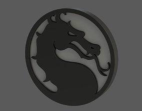 3D print model Mortal Kombat Logo