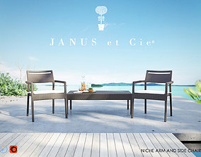 3D Niche Side and Armchair from Janus et Cie