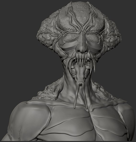 Insect creature bust