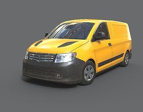 3D model low-poly Generic Minivan 8 Colors