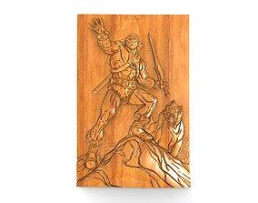 He-man bas-relief 3D print model