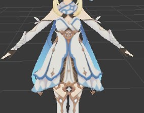 Female traviler 3D model