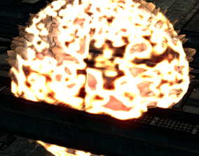 Detailed Explosion effect 3D asset animated