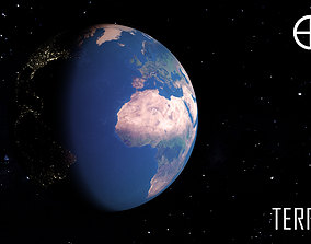 PLANET---BLUE EARTH 16K 3D model