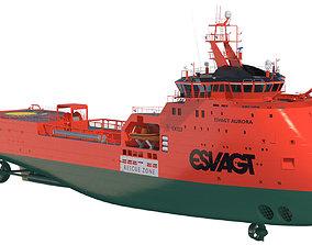 3D model Fast Rescue Vessel ESVAGT AURORA