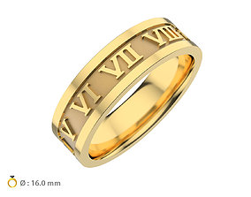 3D printable model N158 wedding ring infinity time