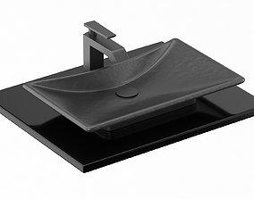 3D model Waza Noir Cast Iron Lavatory