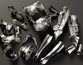 Highly Detailed Gothic Armor 3D model