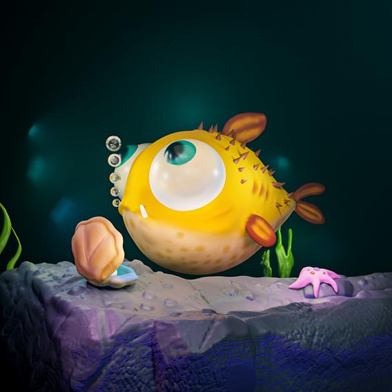 Stylized Puffer Fish