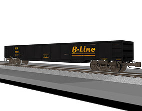 3D Railroad - Train Car - Gondola