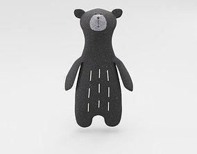 Plush Teddy Bear Toy 3D model