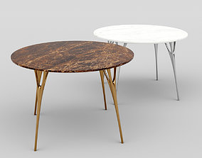 Marble Table with Casting Metal Legs 3D