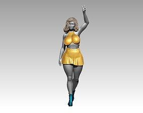 Woman glamour sculptures stands poses 3D print 3D model