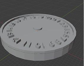 Neutral 0-20 Wound Tracker 3D print model