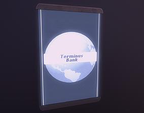 3D model VR / AR ready Cyberpunk Hologram Sign