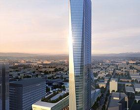 3D Modern City Skyscraper