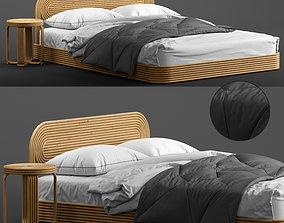 Ria rattan bed 3D model