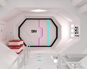 3D asset Sci-fi Corridor - Modular - Game ready -