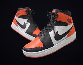3D asset Sneaker Nike Air Jordan Orange White