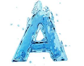 Liquid letter A 3D model various-models