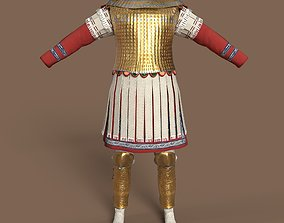 Late Roman officer outfit 3D asset low-poly