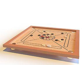 Carrom board 3D model