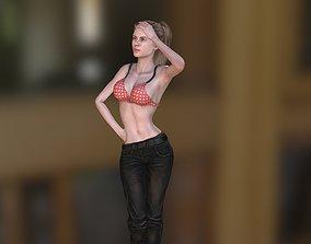Hot Girl 1 rigged 3D asset