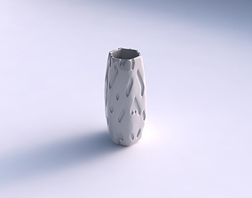 Vase hexagon with cavities smooth 3D printable model