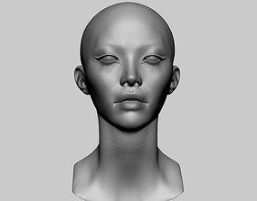 3D model Female Head v14
