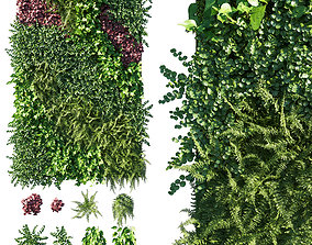 3D Vertical Garden Green Wall 09