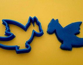 3D print model Dragon cookie cutter