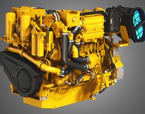 engine Caterpillar - C18 ACERT Engine -3d model