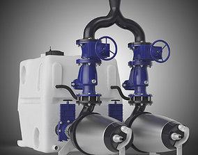 Grundfos multilift MDV pump with tank 3D model