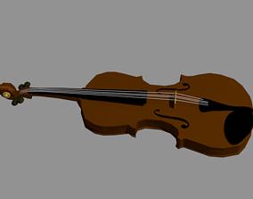 3D asset VR / AR ready Violin