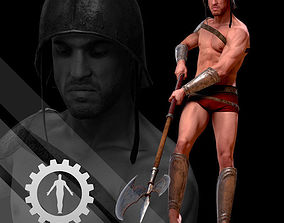 3D model Male Scan - Mick with Armor