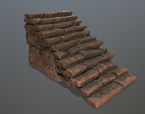stairs stairway 3D asset game-ready