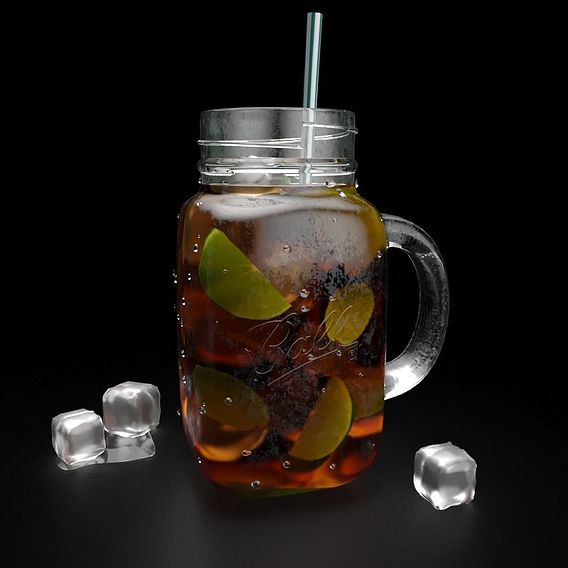 Mason Jar with tea