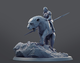 3D printable model Orc Mounted