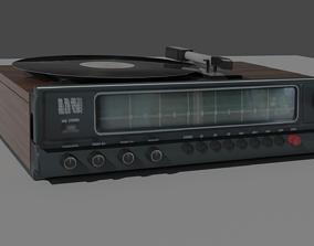 3D model Old Radio - Laserdisc