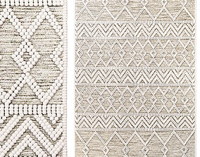 The Curated Nomad Bradrick Trellis Wool Area Rug 3D model