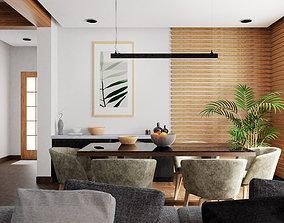 room 3D model realtime Dining Room
