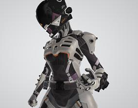 Wraith Cyber Ninja Apex Legends 3D asset