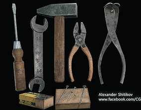 Several working tools - PBR Game Ready 3D asset