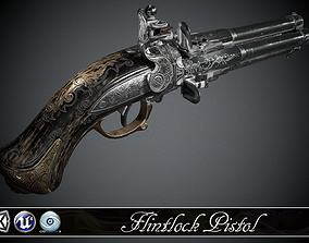 Flintlock pistol Night Quartet - model and 3D asset