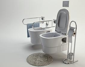 residential-space 3D model Toilet Pack