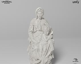 Madonna of Bruges Sculpture VR AR Mobile-ready 3D model