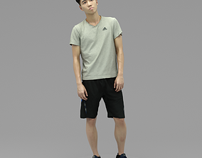 3D model A Young Man Standing Alone II